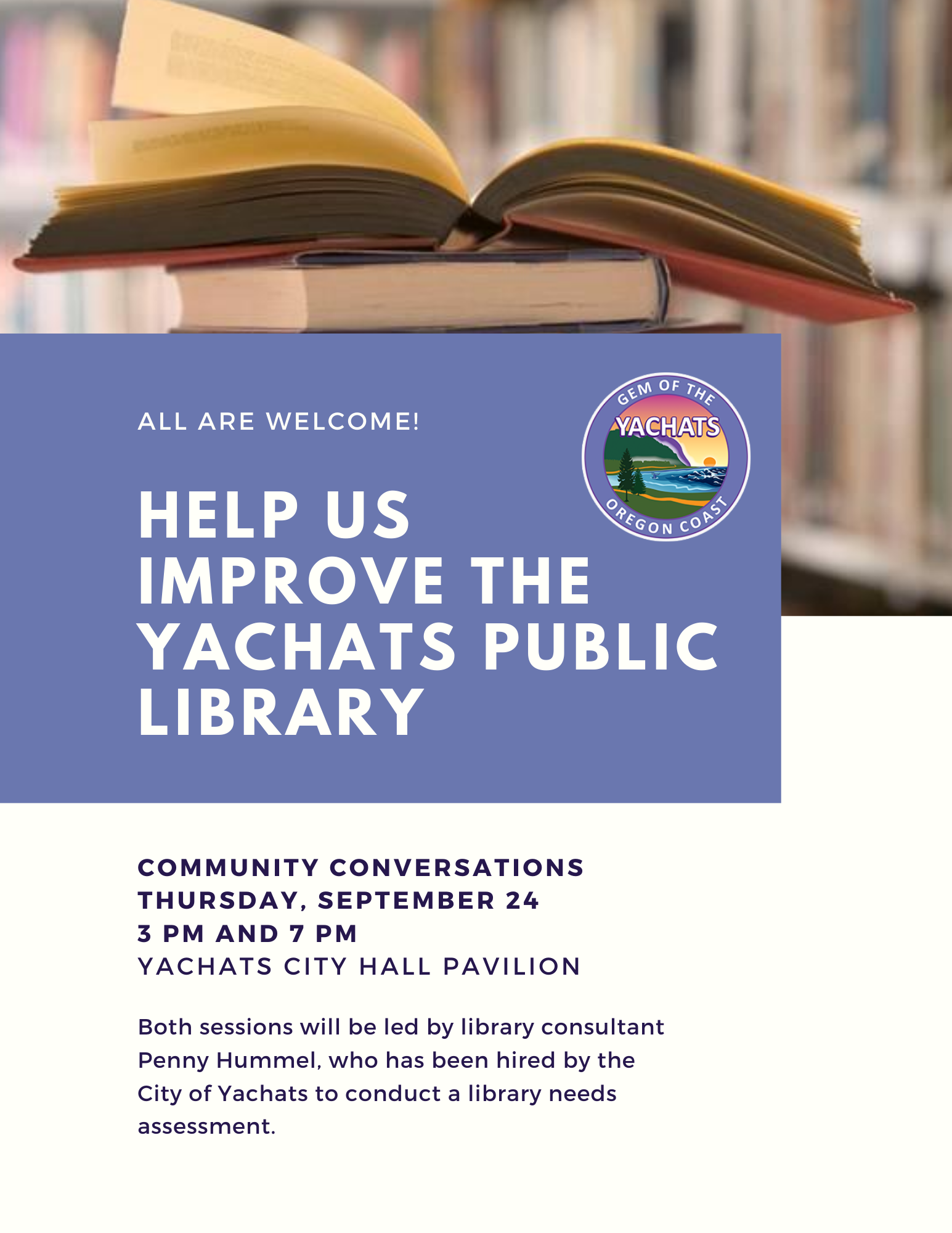 2020-09-24 Library Community Conversations  Flyer