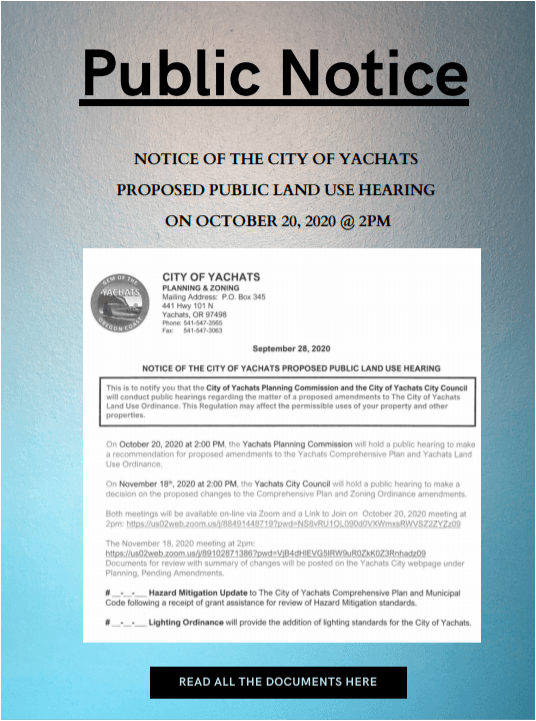 Proposed Public Land Use Hearing