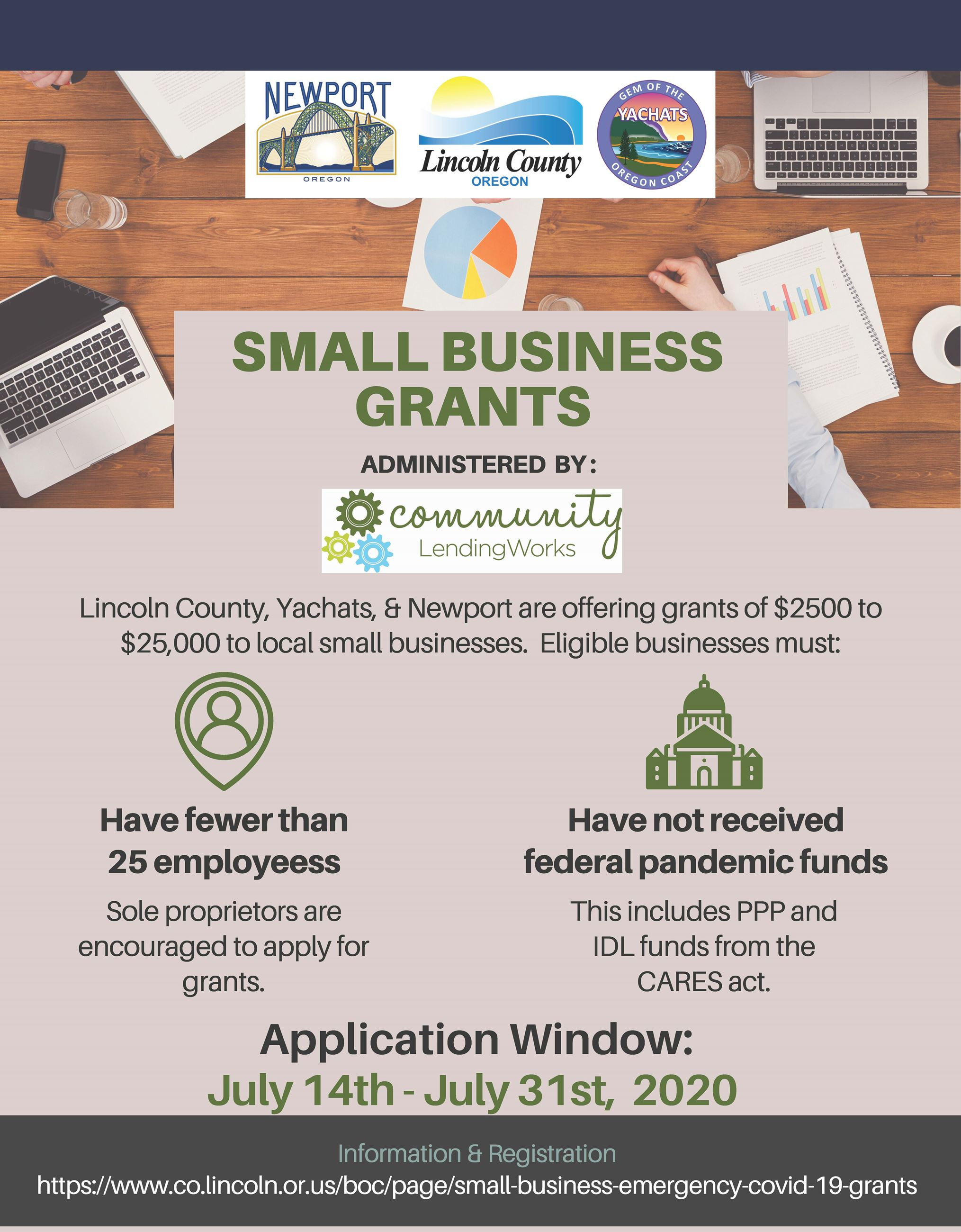 Business Oregon Grant Flyer